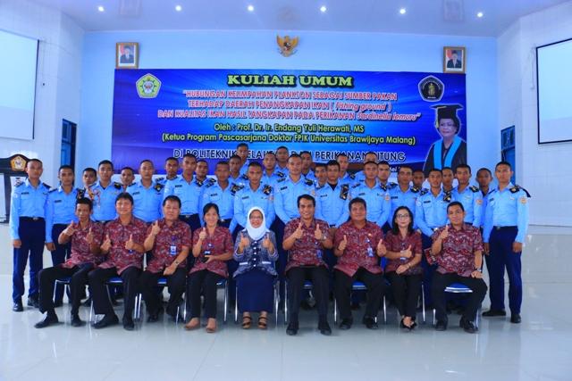 Prof. Endang Yuli Herawati, MS Berikan Kuliah Umum di Politeknik KP Bitung